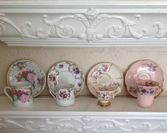 Demitasse - Teacups and Saucers - Fine Bone China Collectibles
