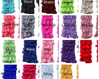 Petti Lace Leg Warmers ~19 Colors to Choose From~ Ruffle Lace Leg Warmers~ Vintage~ Baby to Toddler