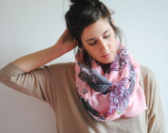 Pink women scarf , Boho Scarf, Lightweight scarf, Women Shawl , Spring Summer Scarf , Fashion Accessories