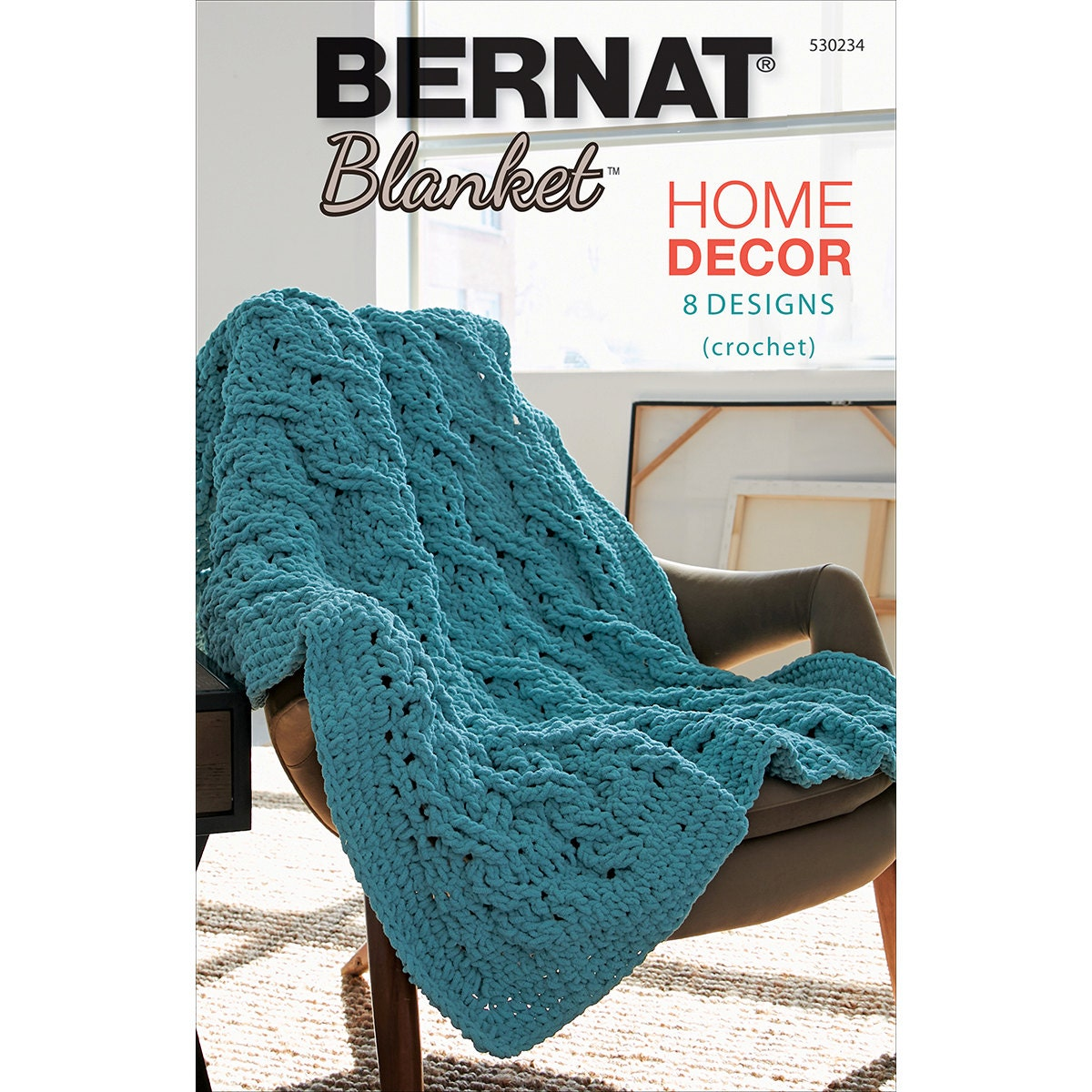bernat blanket yarn home decor book 8 crochet patterns using