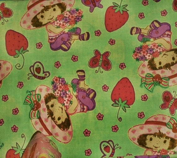 Fabric cotton Strawberry Shortcake collection material for sewing and crafting