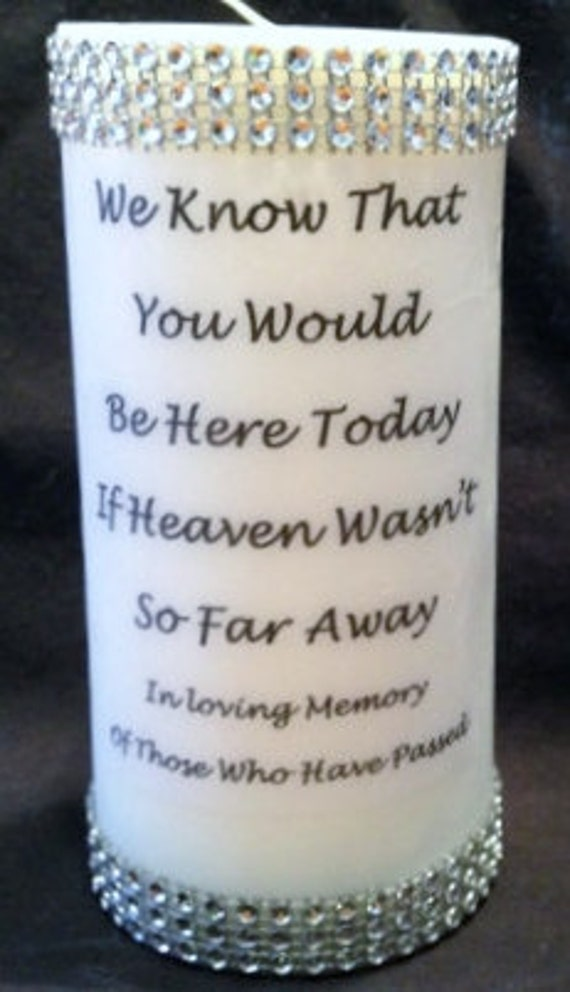 Items similar to Memory Candle, Rememberance Candle ...