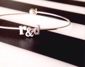 love initial bracelet // silver or gold