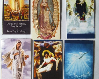 6 Bookmarks for 4.99 .... Under 5 US Magnet Bookmarks of the Religious series (BO-04) 6 in ea packet, magnetic, Bookmark,Blessed Virgin Mary