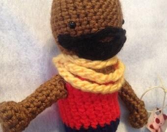 Amigurumi Mr. T Stuffed Doll
