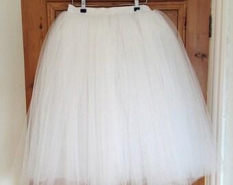 HALF PRICE - Romantic Style Ballerina Ivory Bridal Tutu - Bridal Skirt