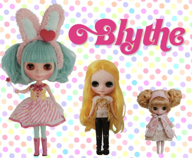 Pattern lot for Blythe Middie and Petite dolls.
