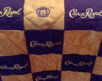 Crown Royal Quilt Custom Made to Order Quilts for Guys Lap Quilt Couch Throw Man Cave Blanket Anniversary (You pick the size and pattern)