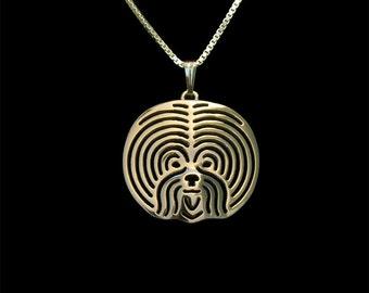 Bichon Frise  - gold pendant and necklace.