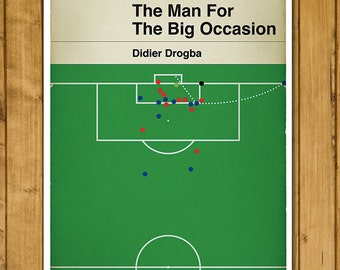 Chelsea FC - Didier Drogba - Penguin Classic Book Cover Poster (UK and US sizes available)