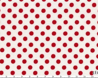 Whiteand  Red Medium  Polka Dots from Color Basics by Lecien