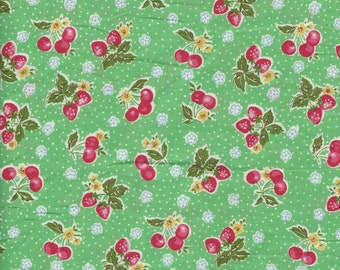 Small Fruit in Green from the 30's Collection by Atsuko Matsuyama for Yuwa of Japan
