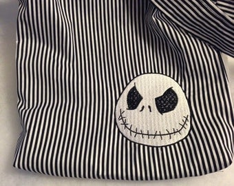 Jack Black and White Stripes Hobo REVERSIBLE CrossBody Bag / purse