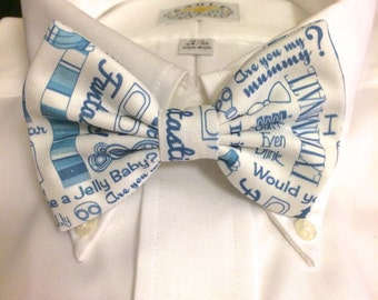Doctor Who Tardis Blue References Bowtie / Bow Tie or Hair Bow