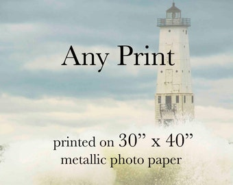 "Large Print Photography - Any Image, Printed on 30"" by 40"" Metallic Photo Paper"