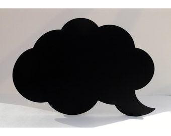 Cloud Speech Bubble Shaped Blackboard / Chalkboard