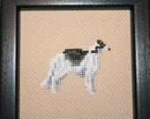 Borzoi Cross Stitched Full Body Dog.