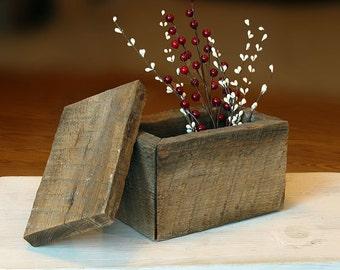 Barn wood Treasure Box, Rustic Decorative Box