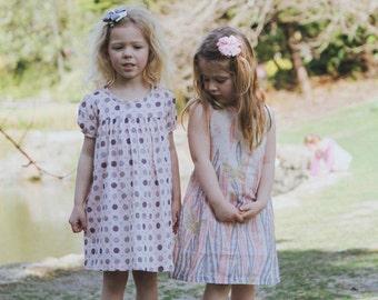 Girl Dress Butterfly Print Dress for Girls Children Clothing Pink