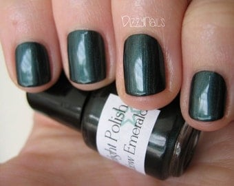 Shadow Emerald Dark Green Custom Nail Polish 15mL