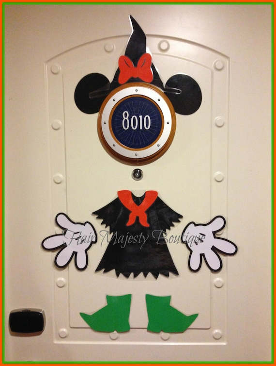Decorating Ideas > Minnie Mouse Witch Halloween Body Part Magnet For Cruise Door ~ 015650_Halloween Door Magnets