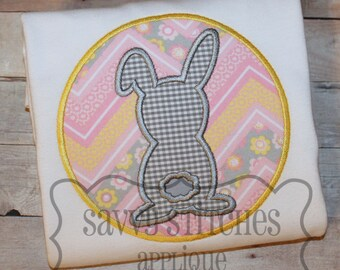 Bunny Silhouette Patch Machine Embroidery Design