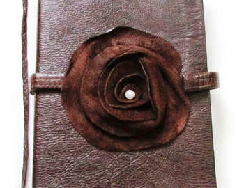 2017 diary, genuine leather / rosette {detachable} cover design - by BevSamantha