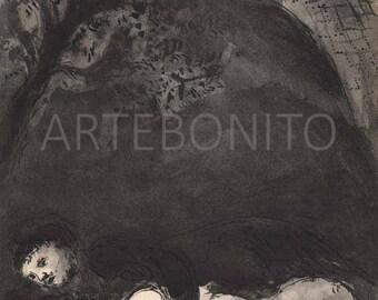"Le Mari en Penitence"" Heliogravure Artwork by Marc Chagall for Verve"