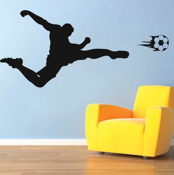 soccer player wall decal sports wall decal soccer wall mural soccer