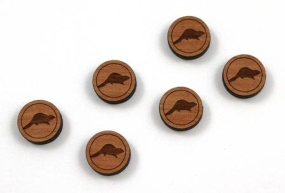 Laser Cut Supplies-8 Pieces.Bever Charms - Laser Cut Wood Bever -Earring Supplies- Little Laser Lab Sustainable Wood Products