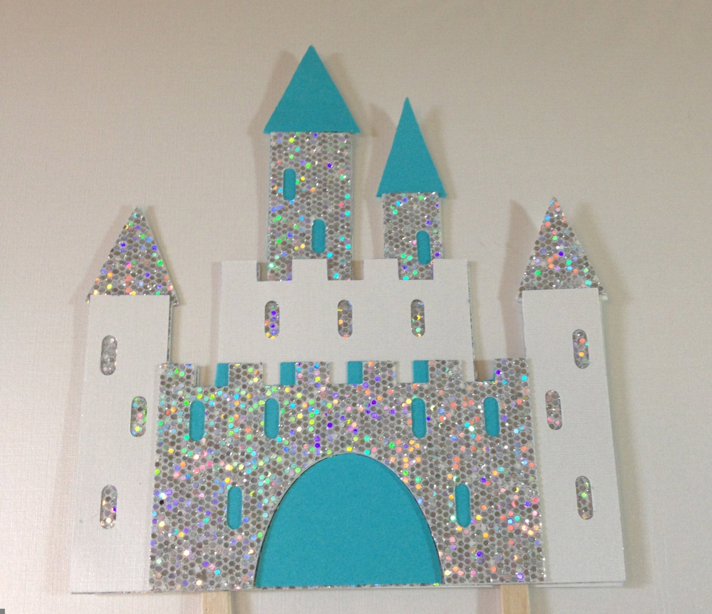 Ice Frozen Castle Cake Topper Princess By Jellybeanpaper