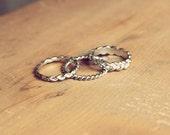 3 Silver Rings, ring band, rings, dainty rings