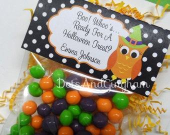 Halloween Treat Bag Topper-Printable Halloween Treat Bag Topper-Owl Witch Treat Bag Topper-Printable Halloween Owl Treat Topper-Halloween