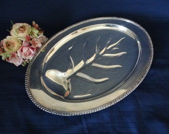 Vintage Silverplate Large Meat Serving Tray - Elegant