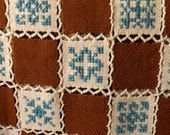 Unique Afghan of Handwoven Wool Squares--Item Number C00193