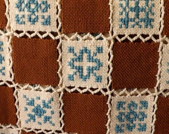Unique Afghan of Handwoven Wool Squares--Item Number C00193 [L35]