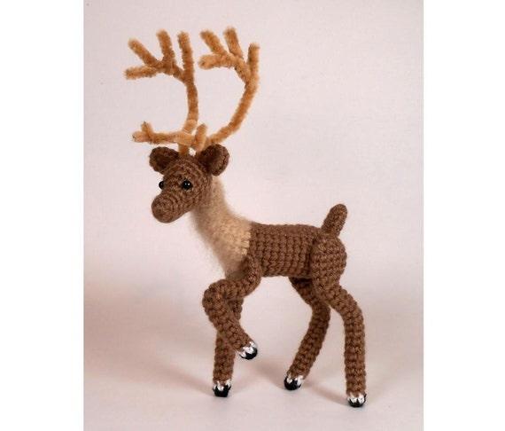 Crochet Baby Deer Pattern : Crochet Deer PATTERN Reindeer by JRPcrochet on Etsy