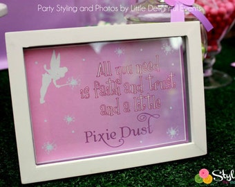 Tinkerbell Inspired Signs - Instant Download