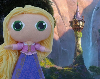 Cute felt doll- Disney Princess Rapunzel