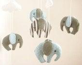 Elephant Baby Boy Mobile Cribe Decor Handmade
