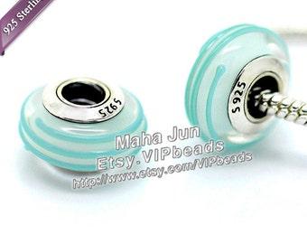 Top Quality  925 Silver Screw Core  Murano Glass Beads  Lampwork European Charm Bead Fits European Charm Bracelets/ ZS066