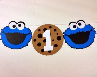 Sesame Street Cookie Monster High Chair Banner