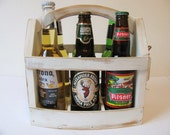 Handmade Beer bottle six pack carrier Wood beer box 6 pack carrier Beer boat.