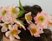 Flower crown, floral headband with pink cherry blossoms