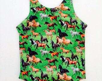 Wild Horses: girls tank swimsuit