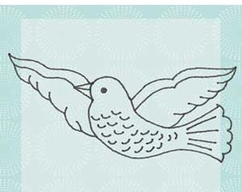 Bird Red Rubber Cling Stamp