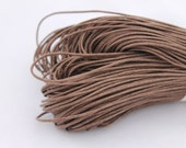 Brown  Wax Cotton Cord 1 mm 10 meters - 10,9 yards or 32,8 feet