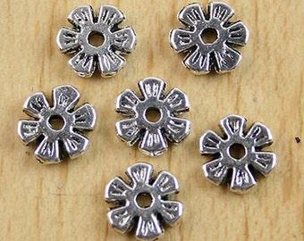 50pcs Tibetan silver flower spacer beads h0066