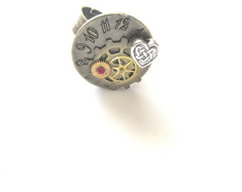 Steampunk Ring, Bronze Steam Punk Ring