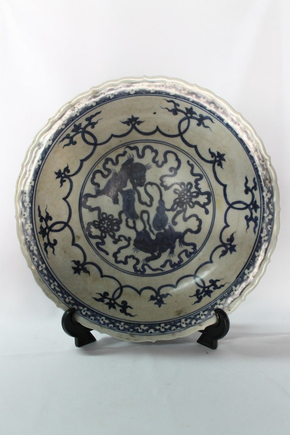Like this item? & RARE Antique Chinese Porcelain Plate Bowl Xuande 15th C. Ming